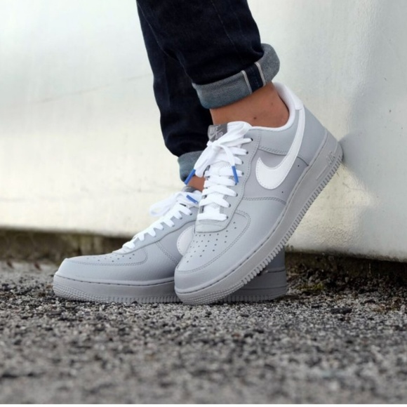 fresh styles wholesale online quality design NEW MENS Nike Air Force 1 wolf grey and white